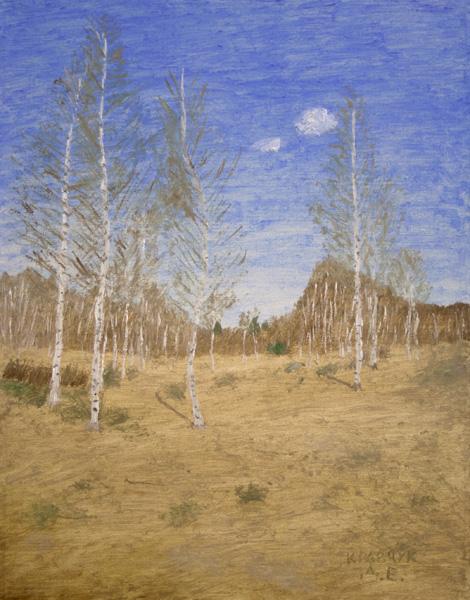 """Картина - """"Весенний березняк"""""""
