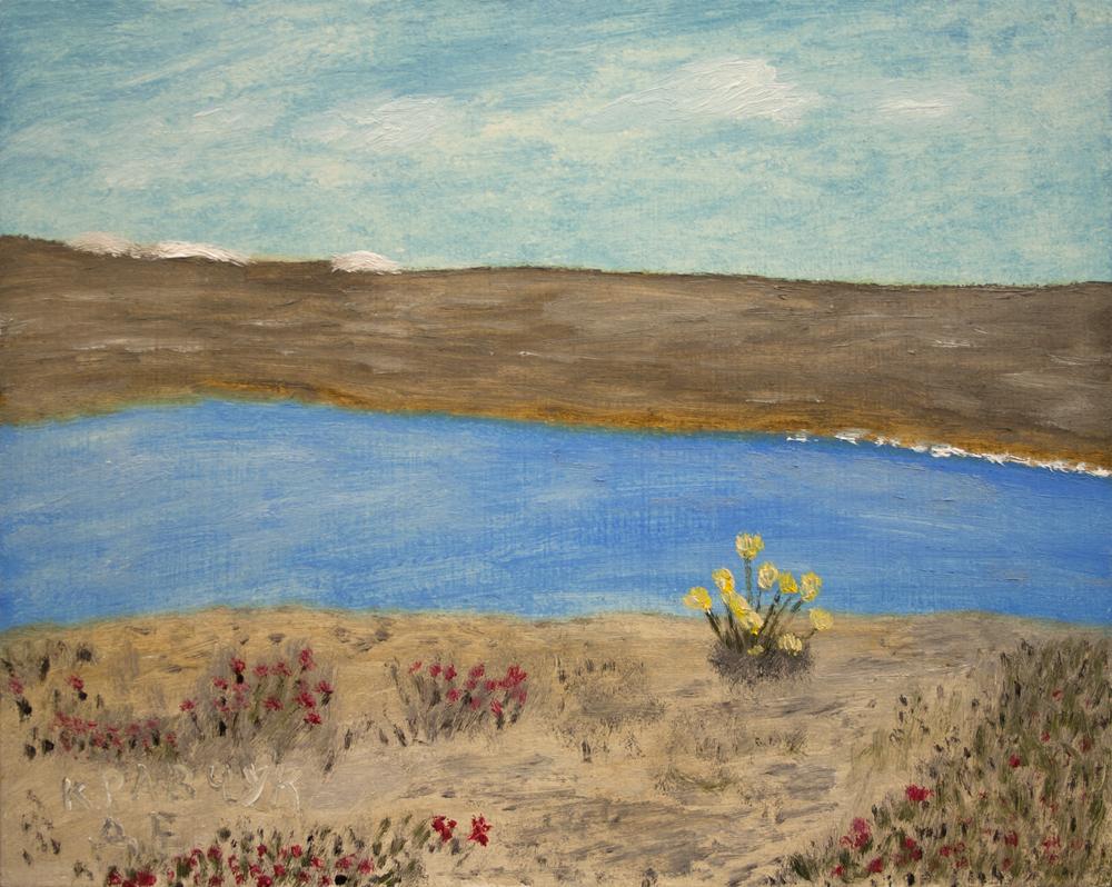"""Картина - """"Цветы около реки Салмон"""""""
