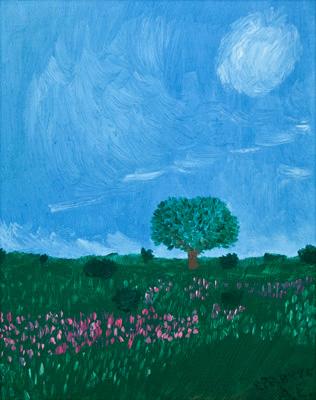 "Картина-""Дерево в поле"""