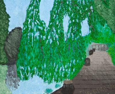 """Картина-""""Причал в Амстел парке"""""""