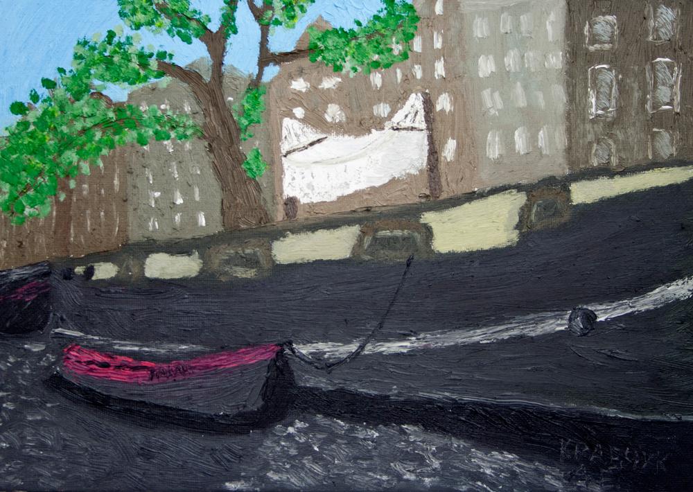 "Картина - ""Жизнь на реке Амстел"""