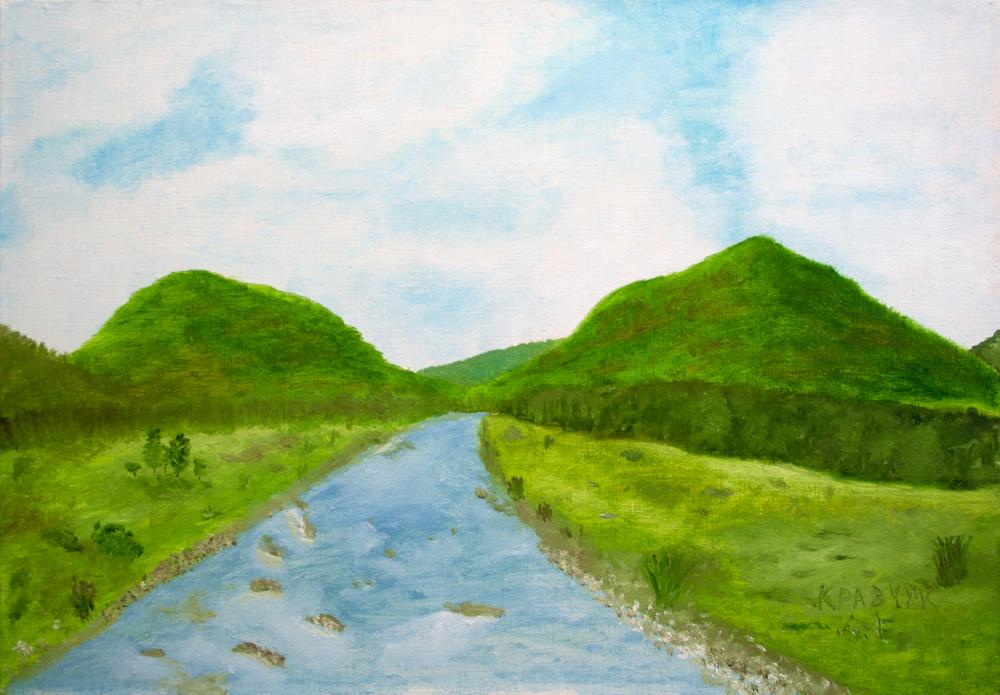 """Картина - """"Река и долина"""""""