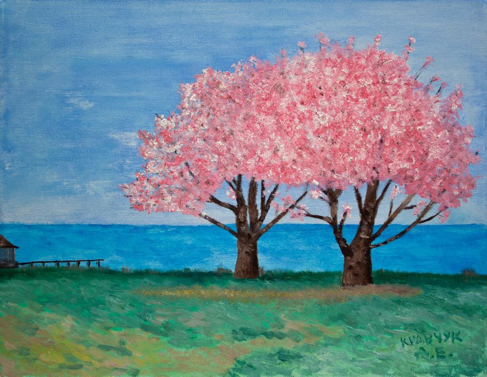 "Картина - ""Весна у моря"""