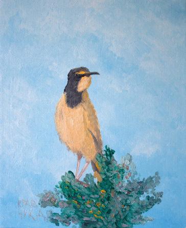 """Картина - """"Птица на ветке"""""""