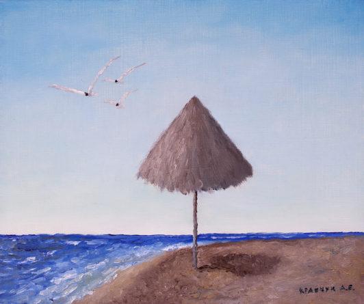 """Картина - """"Пляжный зонт"""""""