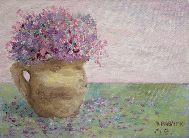 """Картина - """"Цветы в кувшине"""""""