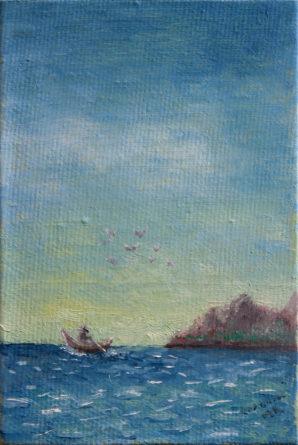 """Картина - """"На лодке"""""""