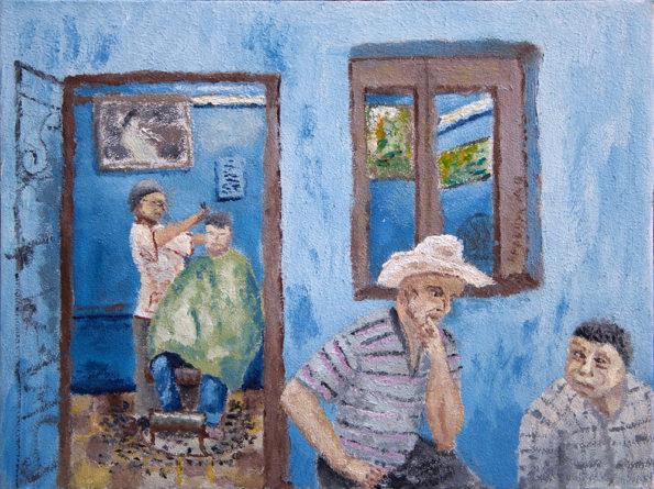 """Картина - """"Парикмахерская на Кубе"""""""