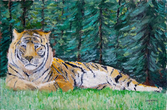 """Картина - """"Тигр"""""""