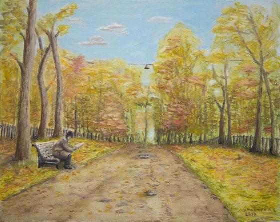 """Картина - """"На Гоголевском бульваре"""""""