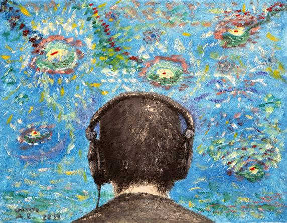 "Картина - ""Прослушивание музыки"""