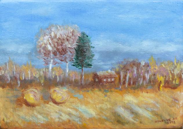 "Картина - ""Осень в деревне"""